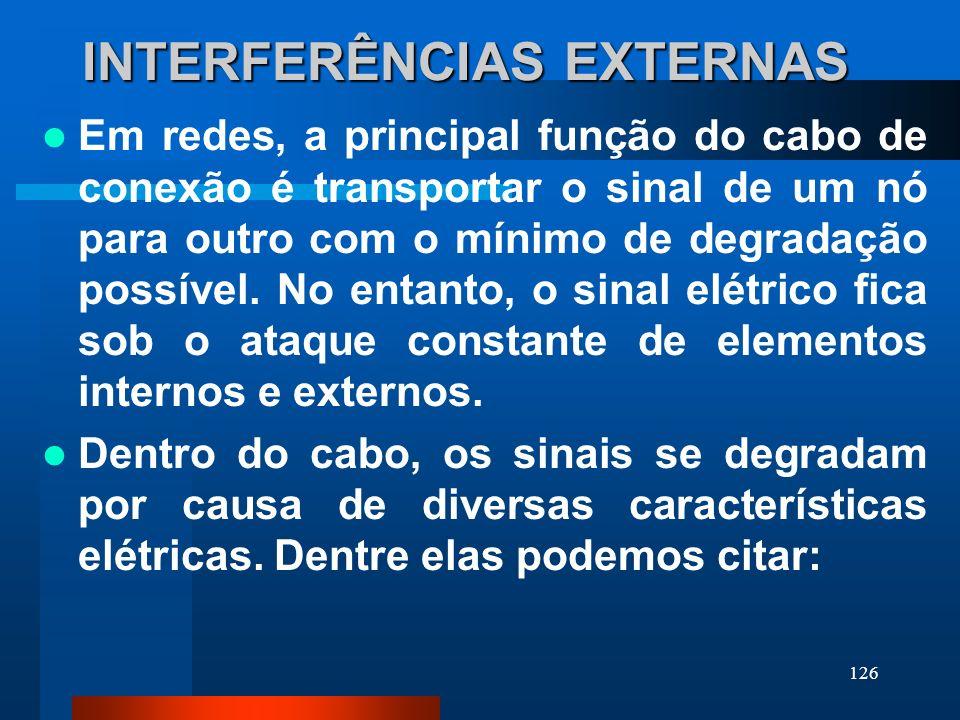 INTERFERÊNCIAS EXTERNAS