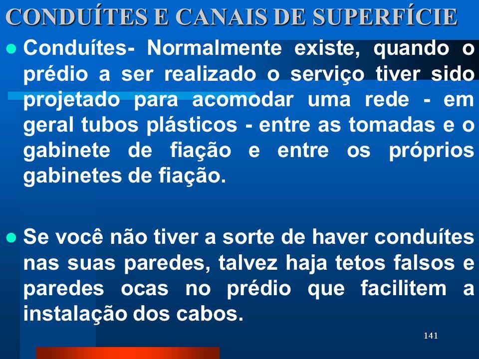 CONDUÍTES E CANAIS DE SUPERFÍCIE