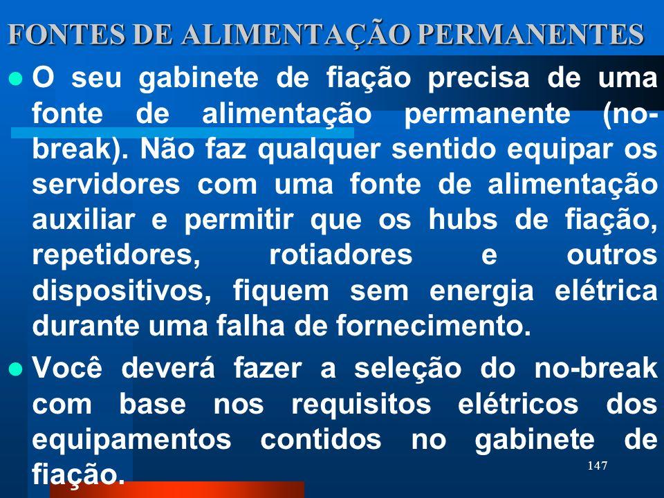FONTES DE ALIMENTAÇÃO PERMANENTES