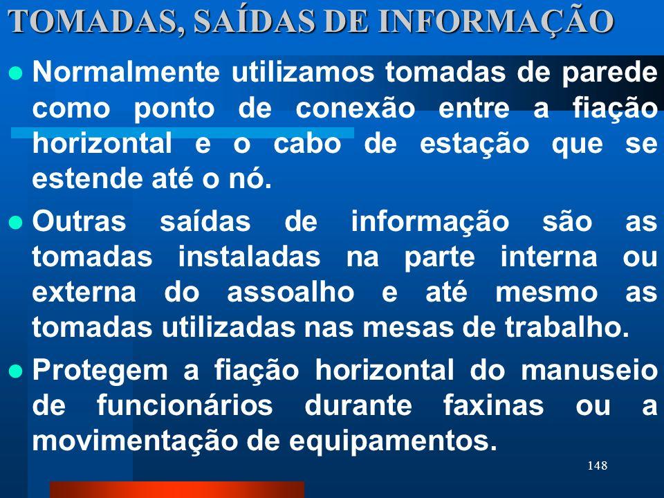 TOMADAS, SAÍDAS DE INFORMAÇÃO