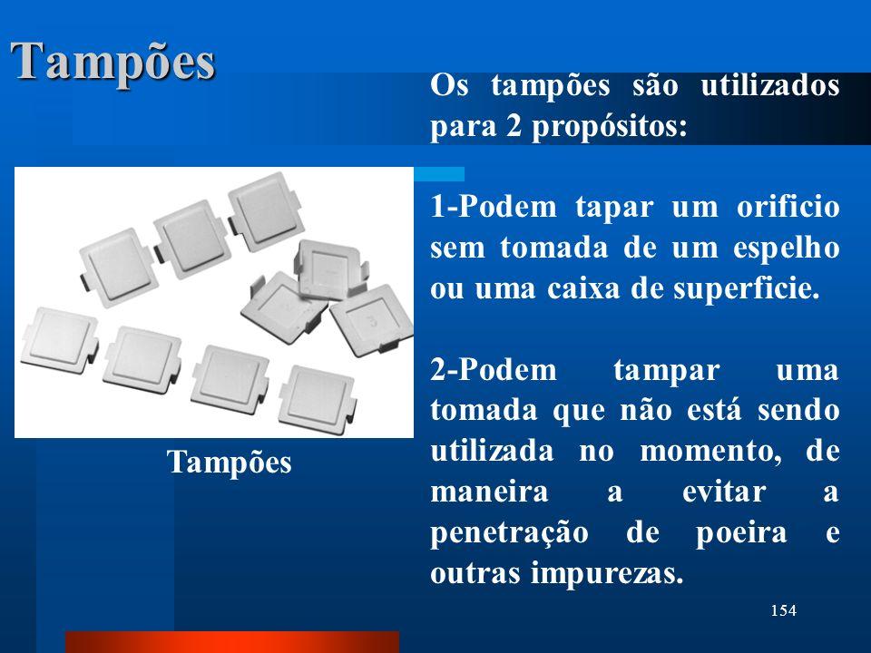 Tampões Os tampões são utilizados para 2 propósitos:
