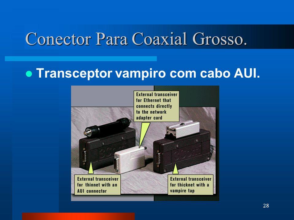 Conector Para Coaxial Grosso.