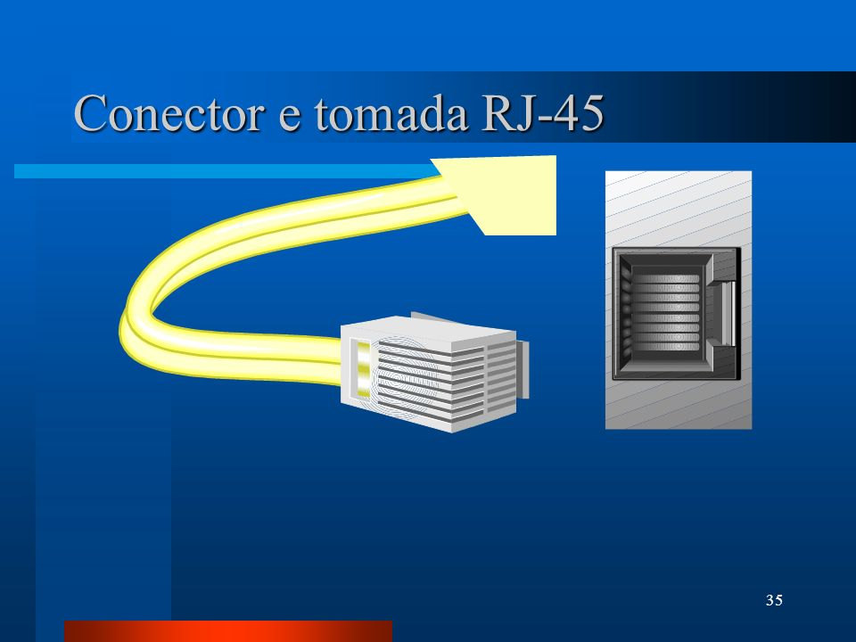 Conector e tomada RJ-45