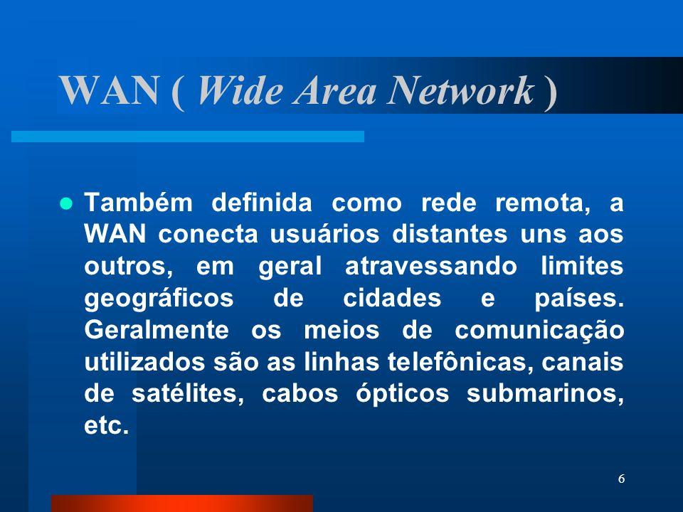 WAN ( Wide Area Network )