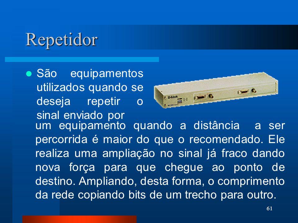 RepetidorSão equipamentos utilizados quando se deseja repetir o sinal enviado por.
