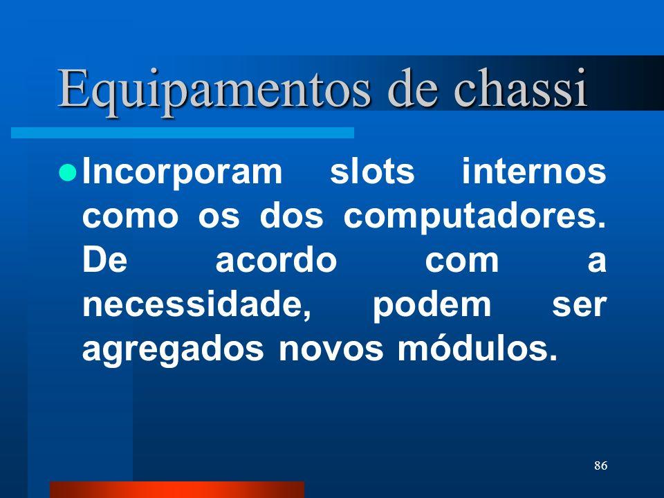 Equipamentos de chassi