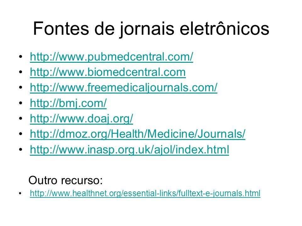 Fontes de jornais eletrônicos