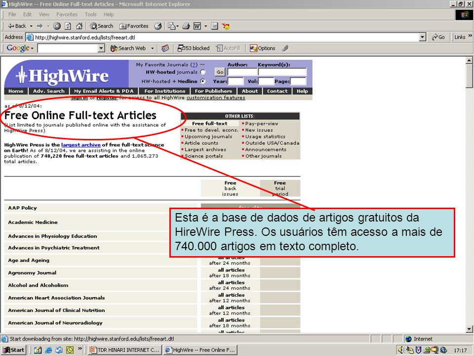 HireWire Press free article database