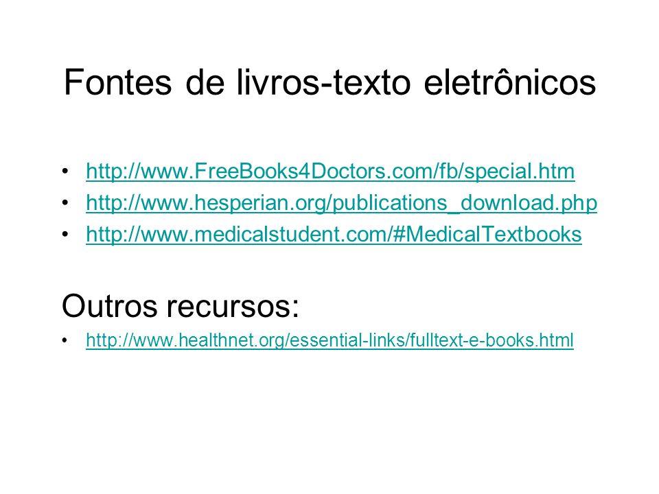 Fontes de livros-texto eletrônicos