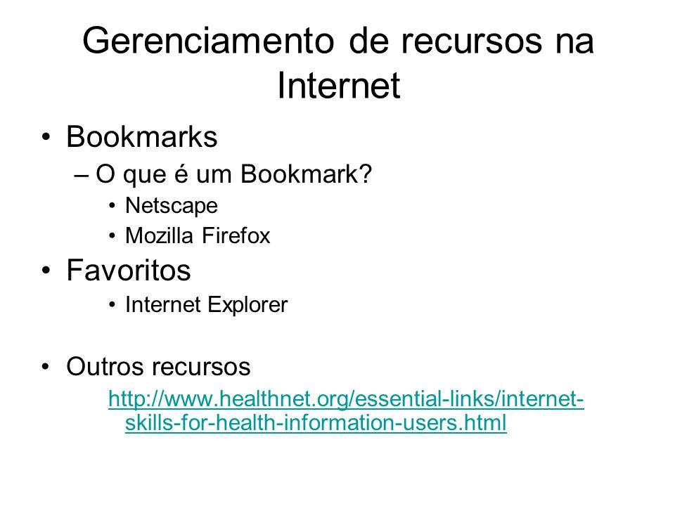 Gerenciamento de recursos na Internet
