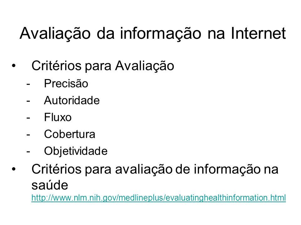 Avaliação da informação na Internet