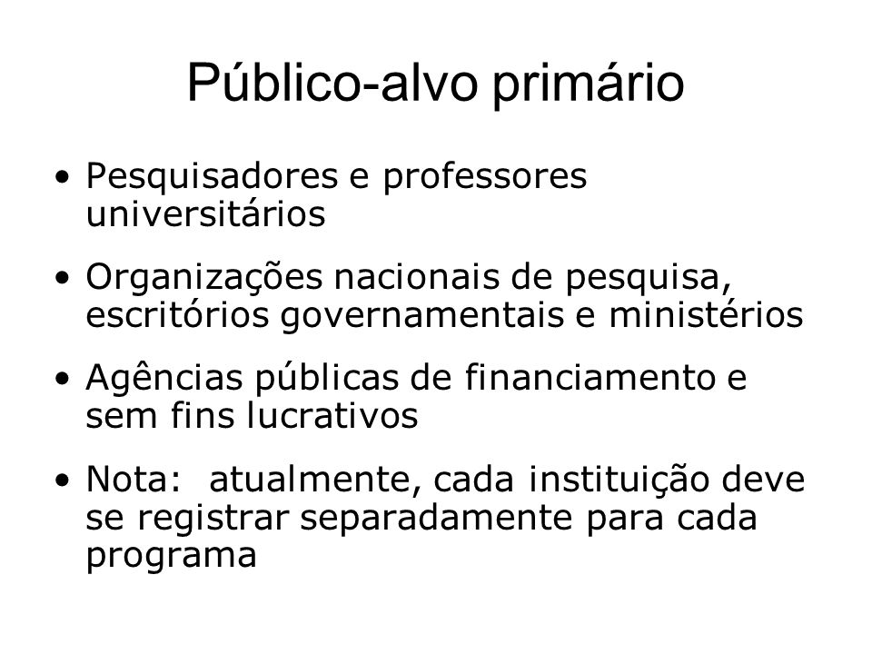 Público-alvo primário