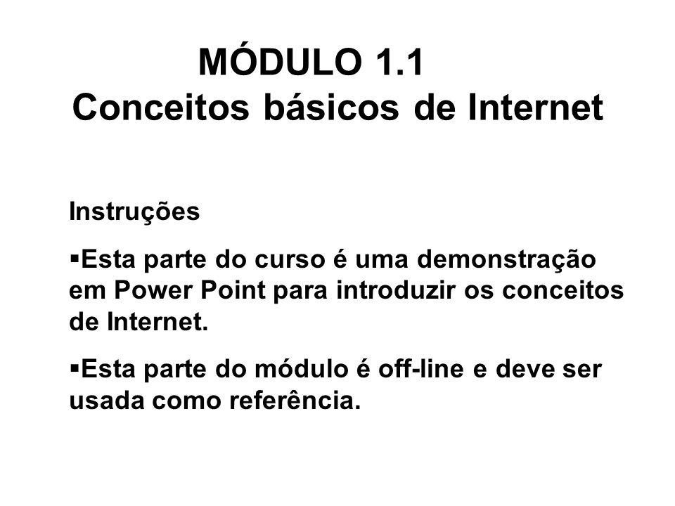 MÓDULO 1.1 Conceitos básicos de Internet