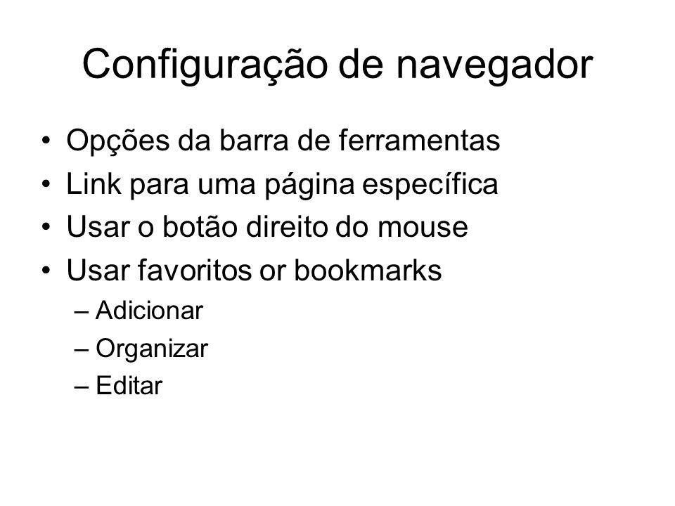 Configuração de navegador