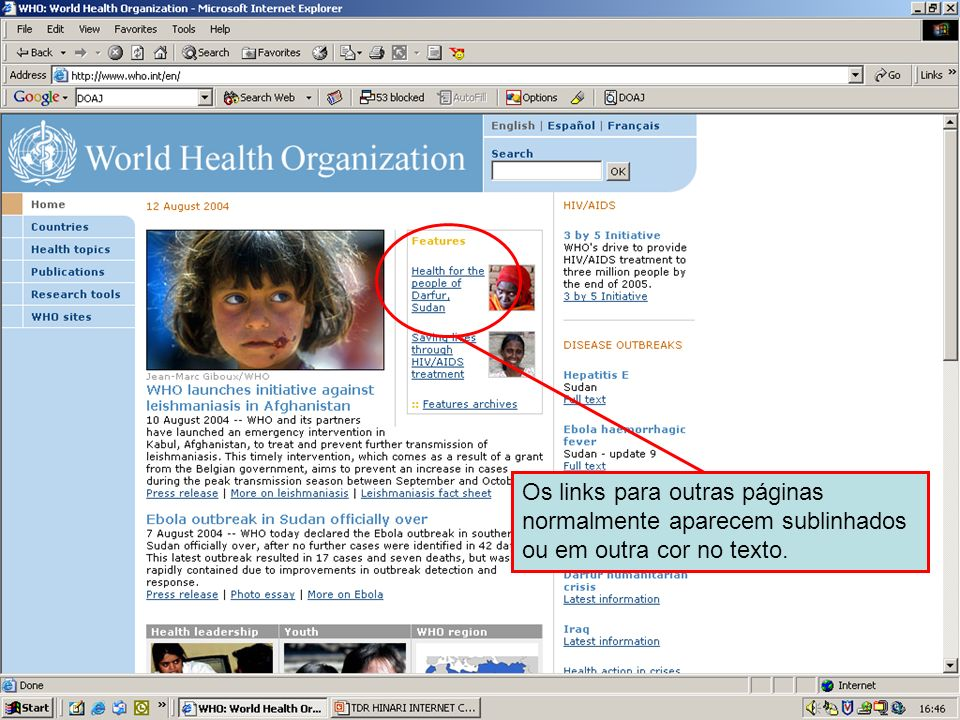 Hypertext linksHypertext links are usually denoted by underlined text.