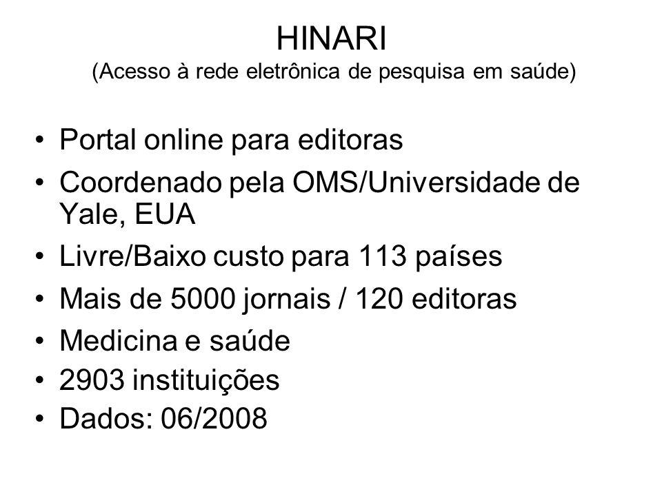 HINARI (Acesso à rede eletrônica de pesquisa em saúde)