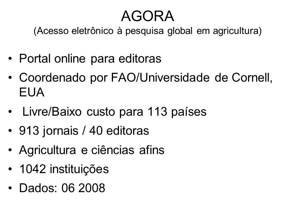 AGORA (Acesso eletrônico à pesquisa global em agricultura)