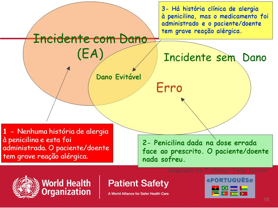 Incidente com Dano (EA) Erro Incidente sem Dano Dano Evitável