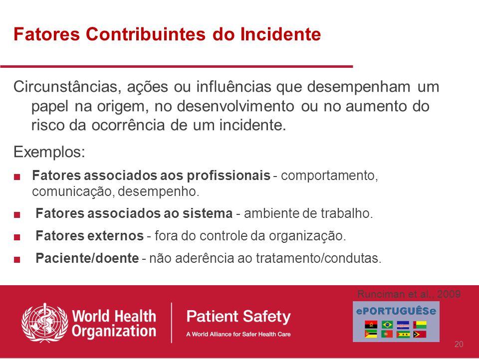 Fatores Contribuintes do Incidente