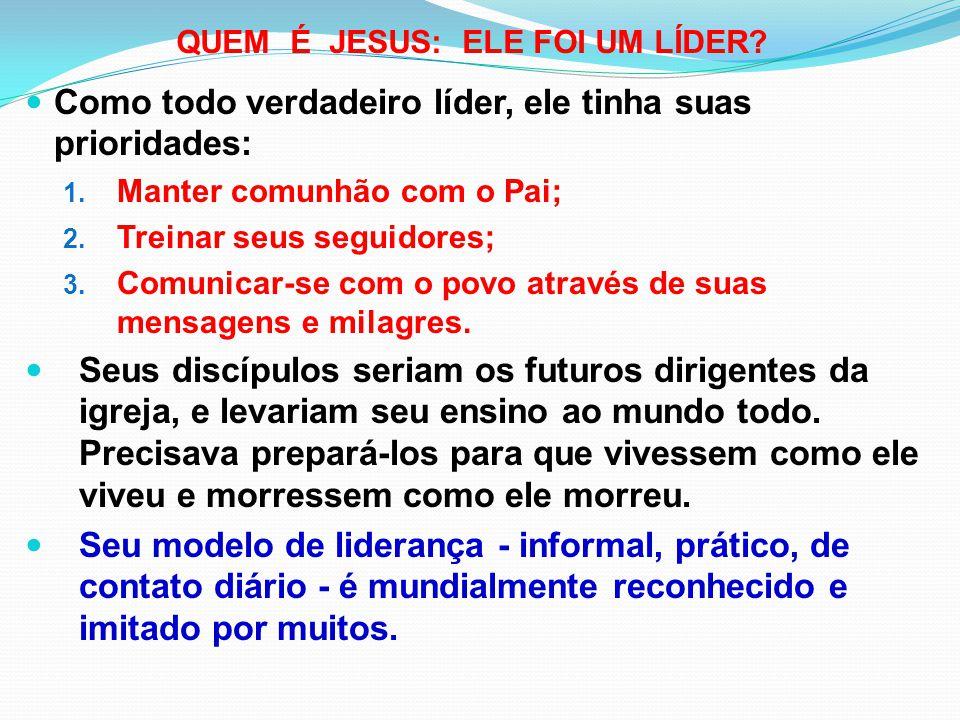 QUEM É JESUS: ELE FOI UM LÍDER