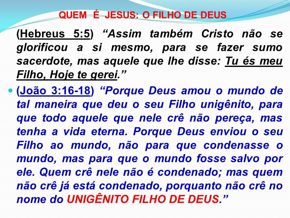 QUEM É JESUS: O FILHO DE DEUS