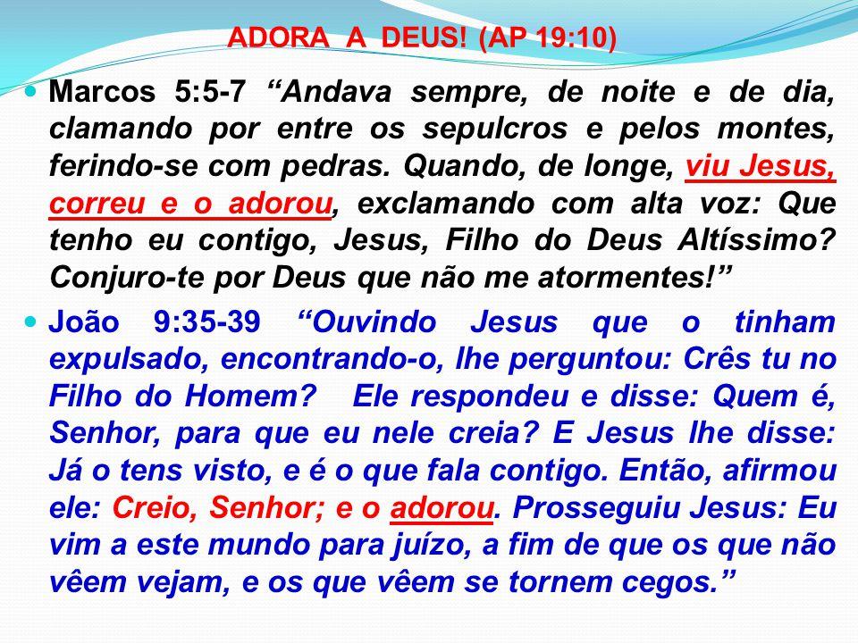 ADORA A DEUS! (AP 19:10)