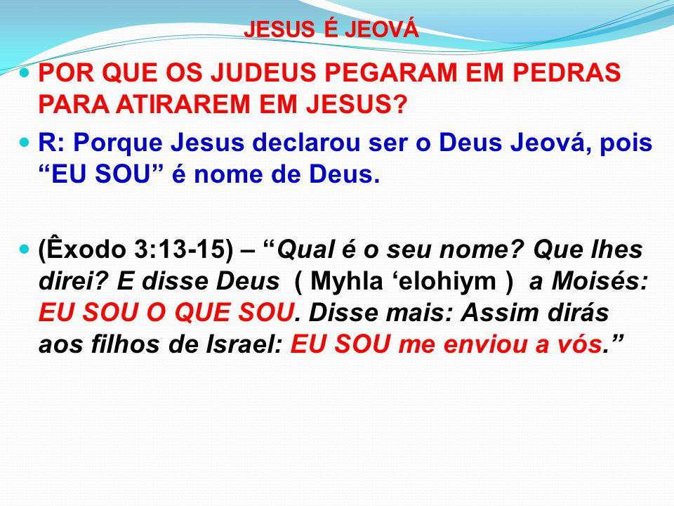POR QUE OS JUDEUS PEGARAM EM PEDRAS PARA ATIRAREM EM JESUS