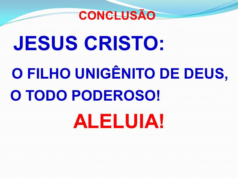 O FILHO UNIGÊNITO DE DEUS, ALELUIA!