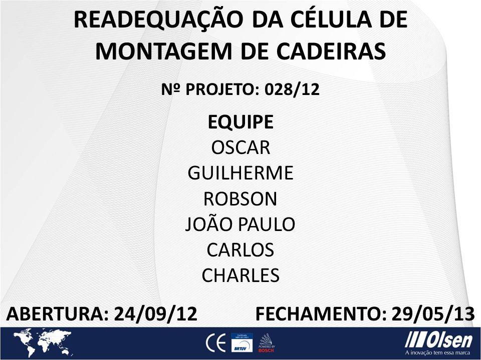 READEQUAÇÃO DA CÉLULA DE MONTAGEM DE CADEIRAS