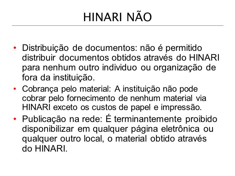 HINARI NÃO