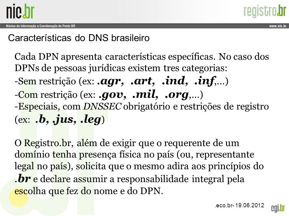 Características do DNS brasileiro