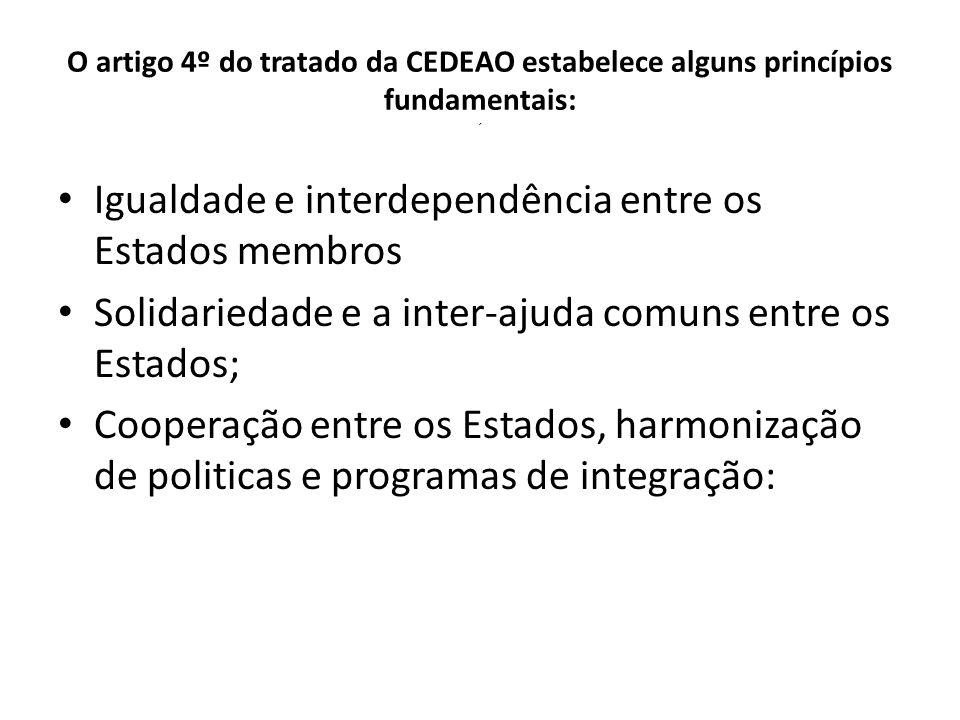 Igualdade e interdependência entre os Estados membros