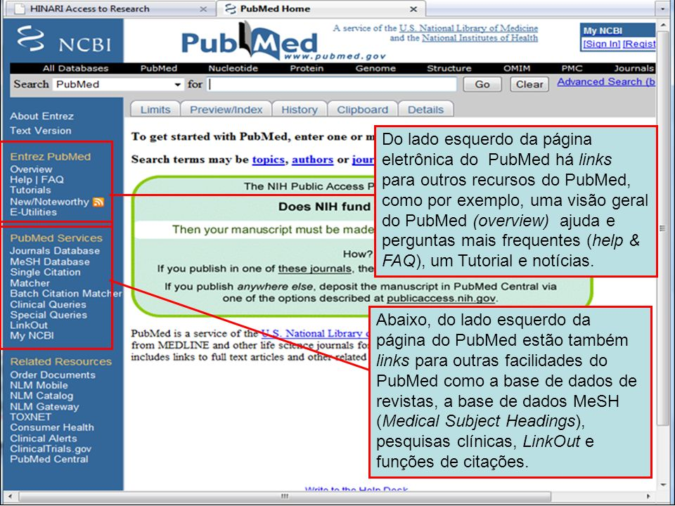 PubMed home page 2