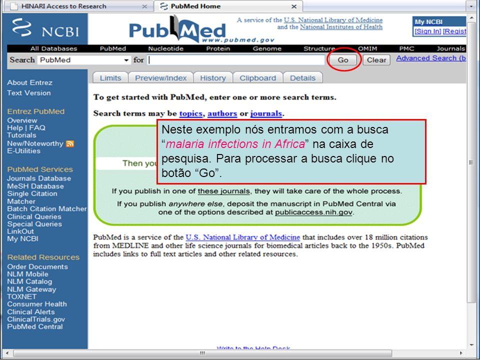 PubMed search box
