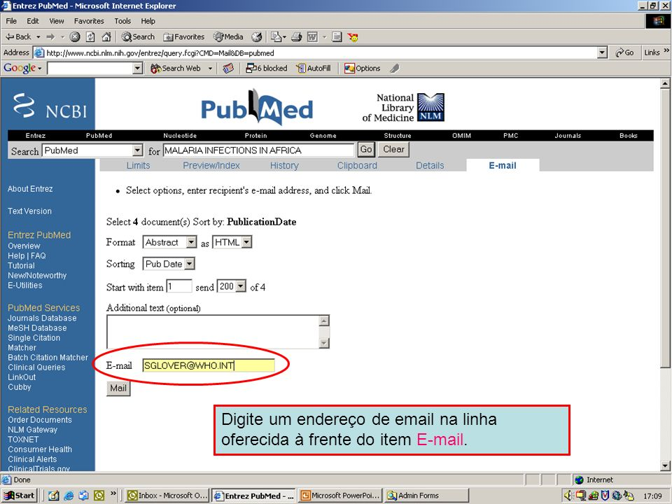 Send to Email 3Type in an email address in the box provided.