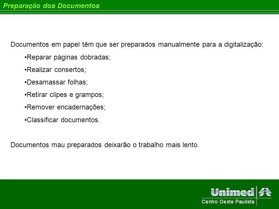 Preparação dos Documentos