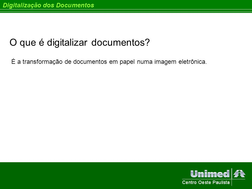 O que é digitalizar documentos
