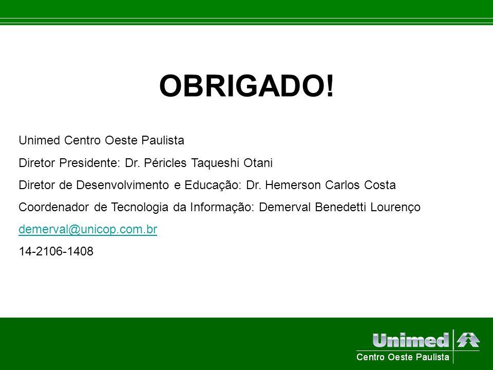 OBRIGADO! Unimed Centro Oeste Paulista