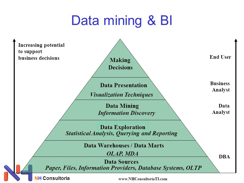 Data mining & BI Making Decisions Data Presentation