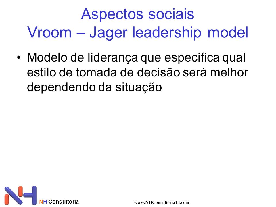 Aspectos sociais Vroom – Jager leadership model