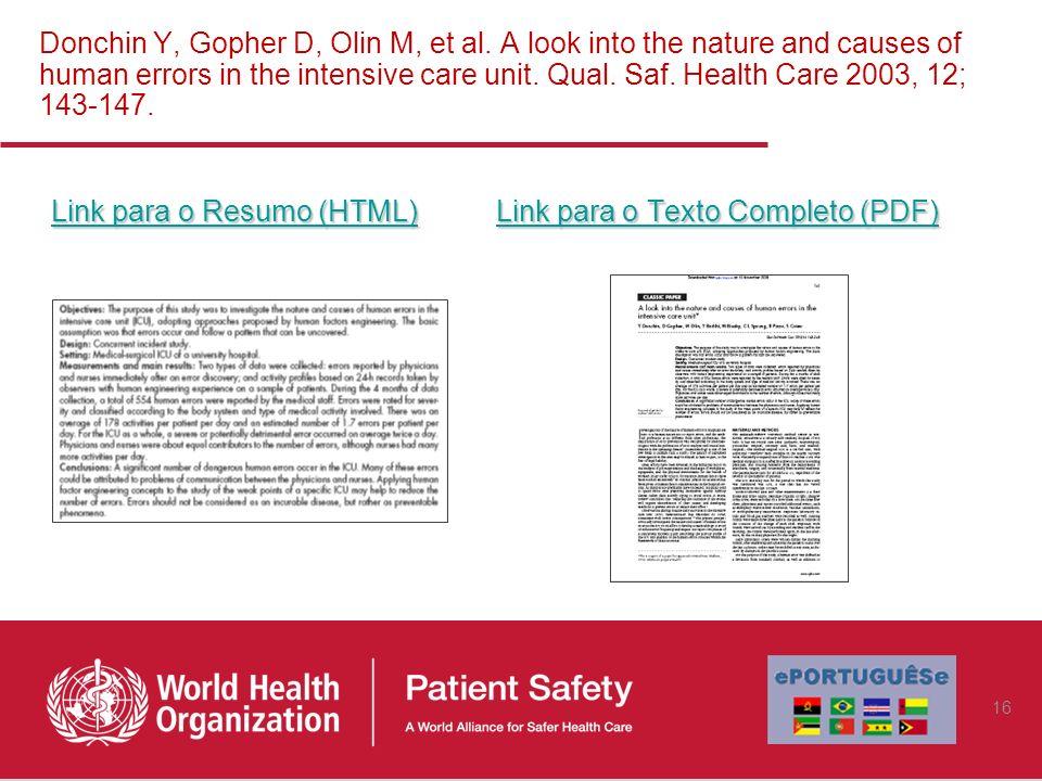 Link para o Resumo (HTML) Link para o Texto Completo (PDF)