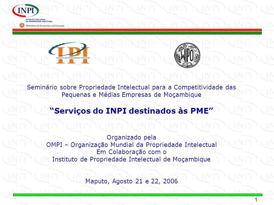 Serviços do INPI destinados às PME