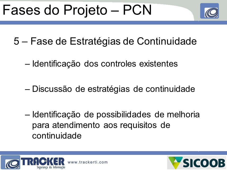 Fases do Projeto – PCN 5 – Fase de Estratégias de Continuidade