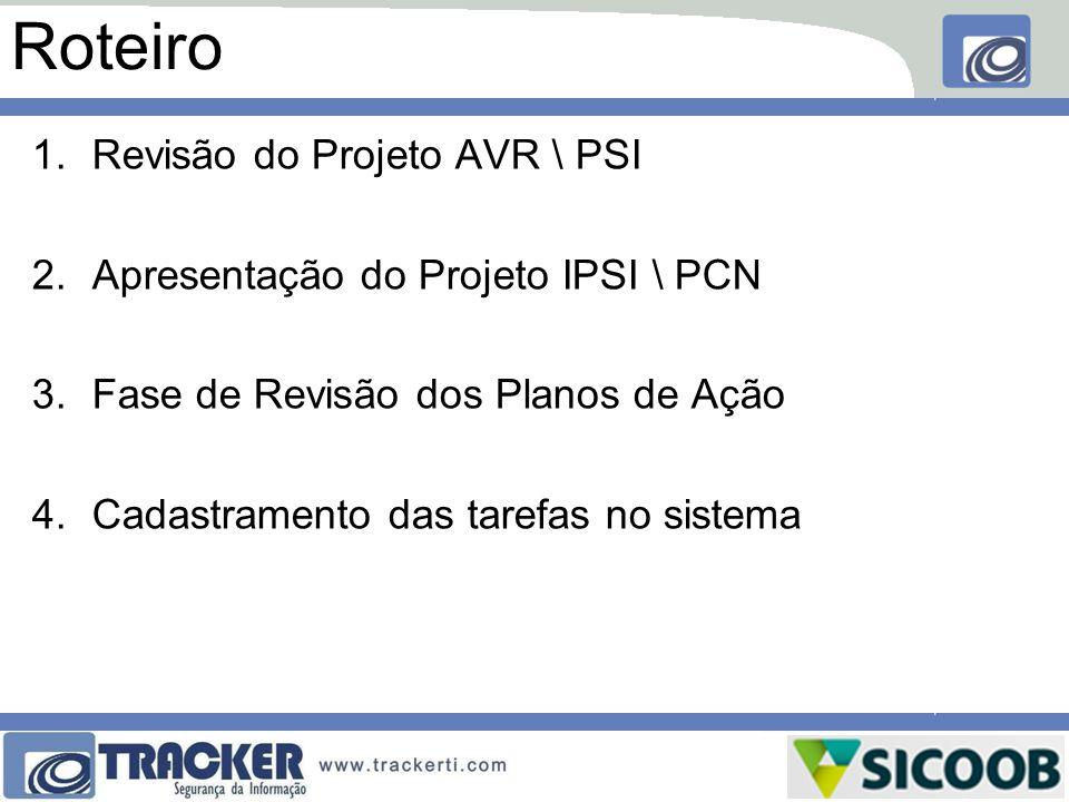 Roteiro Revisão do Projeto AVR \ PSI