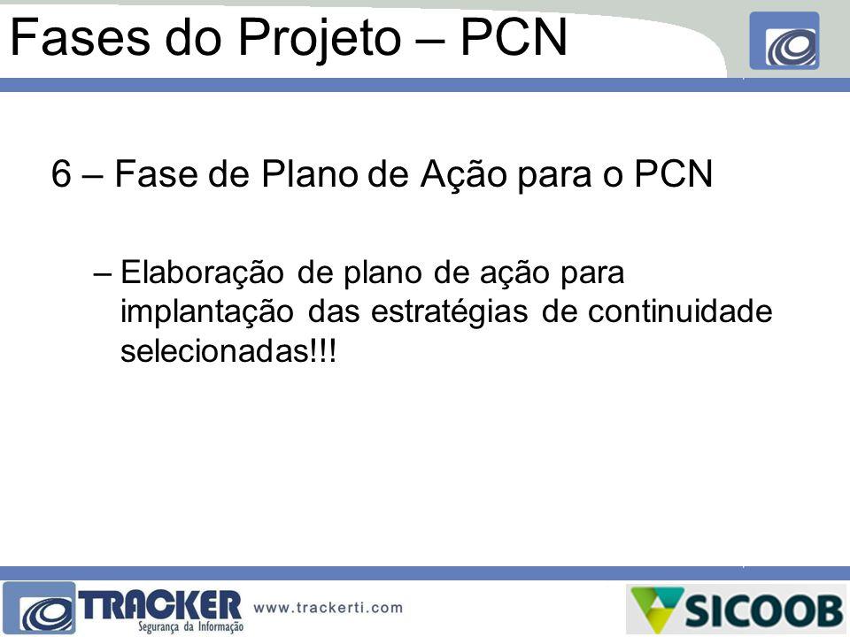 Fases do Projeto – PCN 6 – Fase de Plano de Ação para o PCN