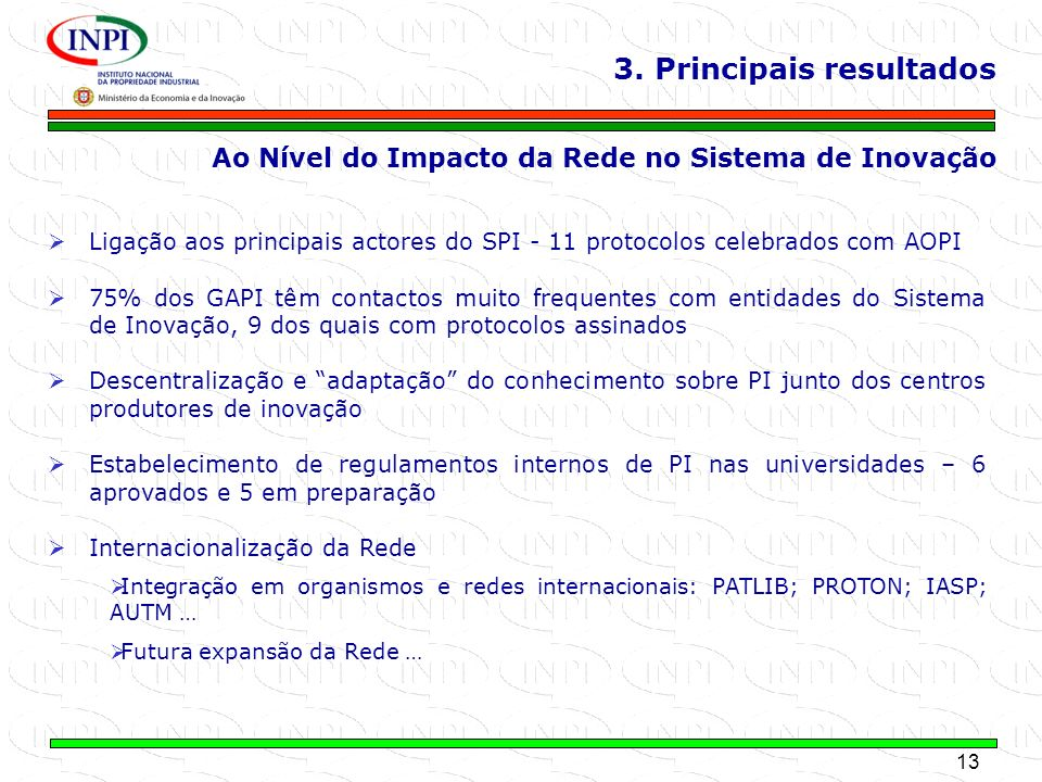 3. Principais resultados