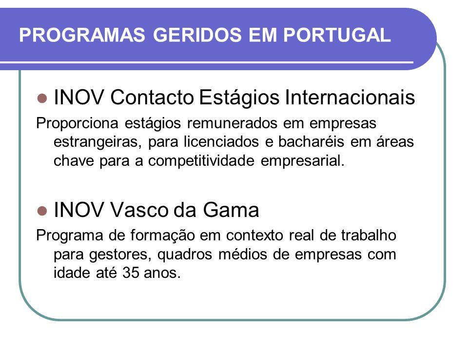 INOV Contacto Estágios Internacionais