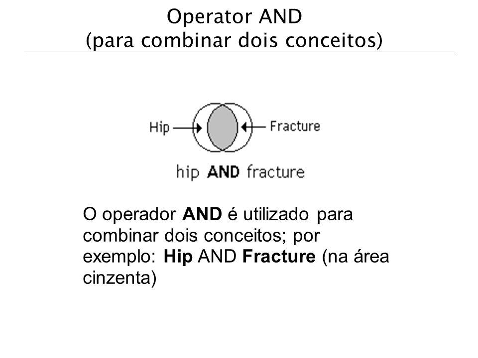 Operator AND (para combinar dois conceitos)