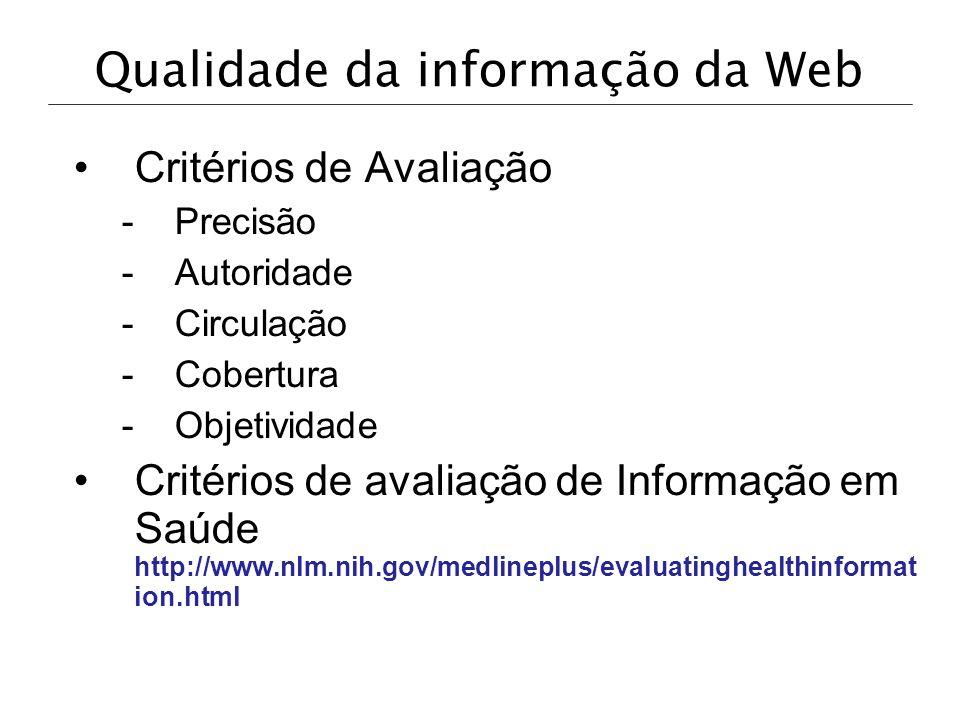 Qualidade da informação da Web