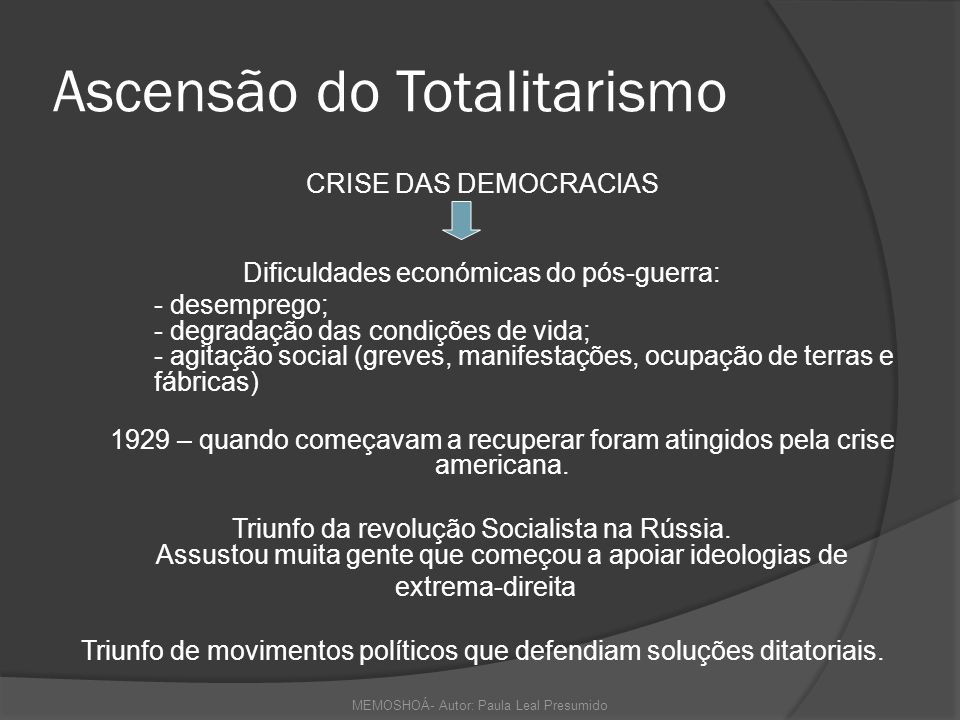 Ascensão do Totalitarismo